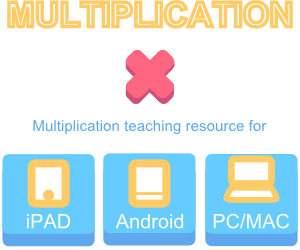 Multiplication Teaching and Learning iPad Android IWB resources