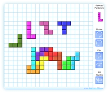 photo about Pentominoes Printable referred to as Flash Pentomino TeacherLED