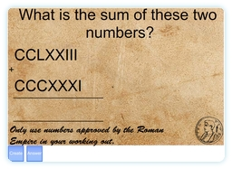 Roman Numeral IWB Resource