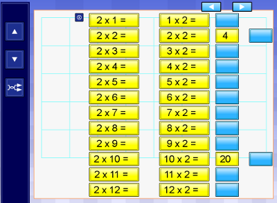 IWB times tables resource