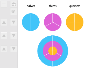 fraction teaching resource IWB app