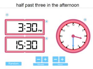 IWB iPad Time Teaching resource