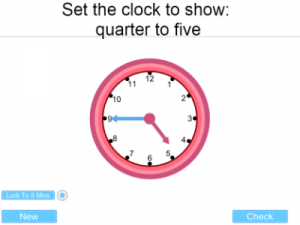 IWB iPad Android Clock Time teaching resource