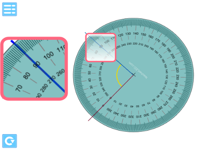 IWB iPad Android teaching app angle measure protractor