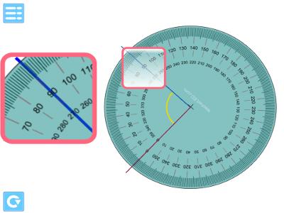 IWB iPad Android teaching app angle measure protractor