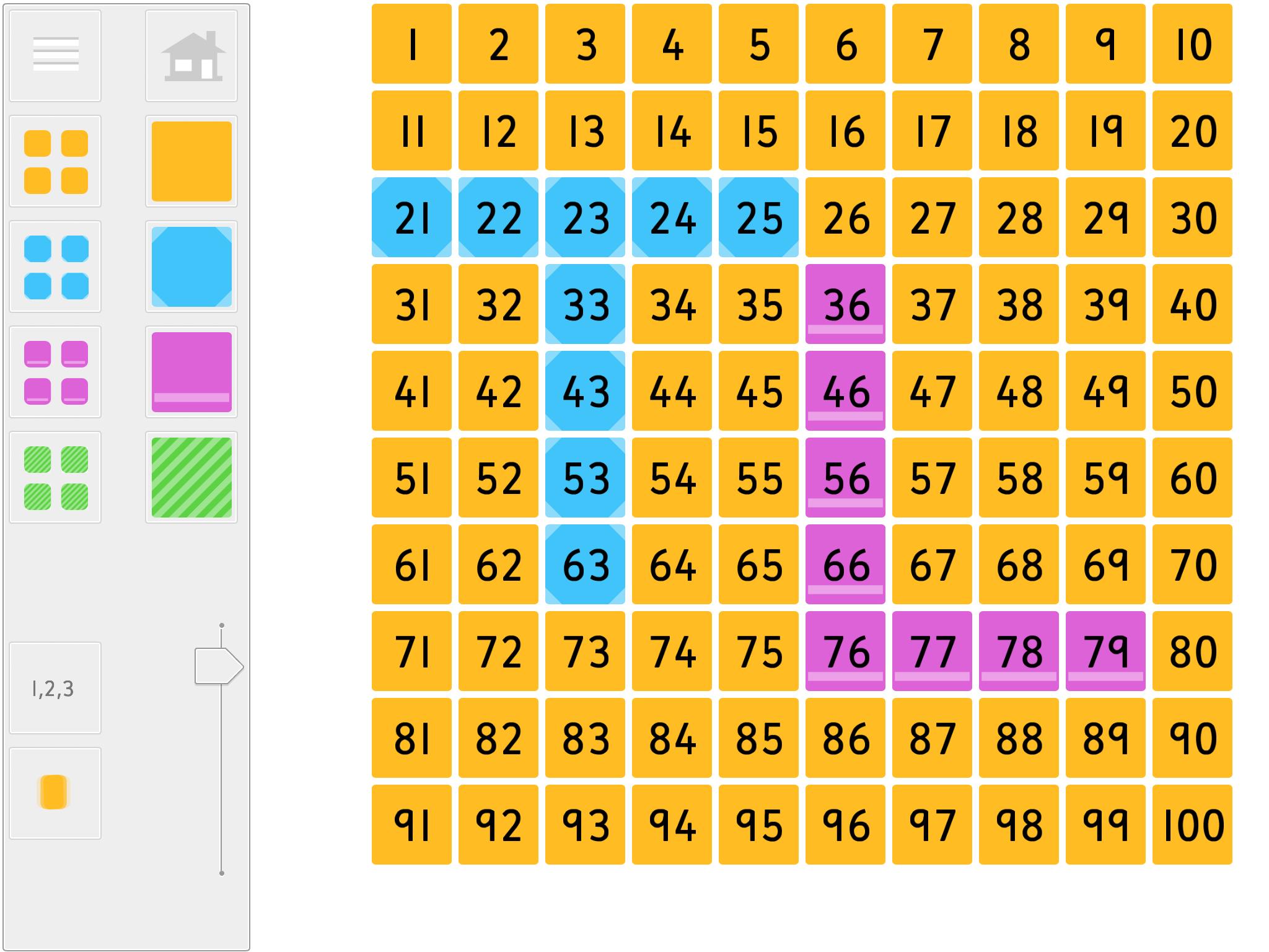 Hundred Square IWB Web app